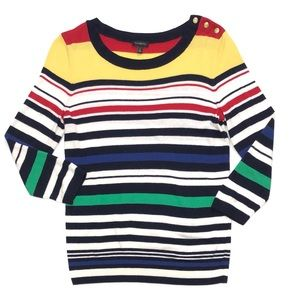Talbots Bold Stripes Pullover Sweater